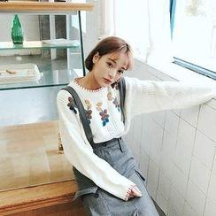Anlay - Woolen Loose-Fit Jumper Skirt