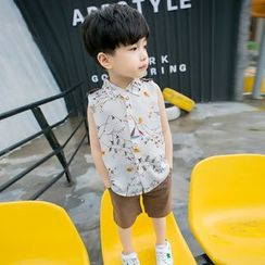 PAM - Set: Kids Sleeveless Chiffon Shirt + Shorts
