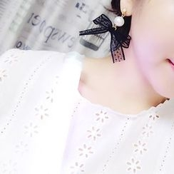 Ticoo - Lace Bow Drop Earring