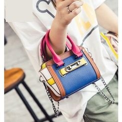 Youshine - Color Block Top Handle Crossbody Bag