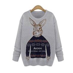Dream Girl - Rabbit Printed Knit Top