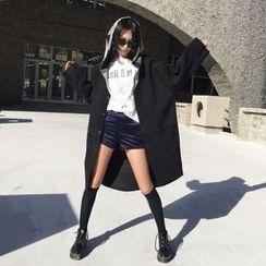 Eva Fashion - Fleece Hooded Coat