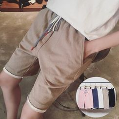 JUN.LEE - Drawstring Shorts