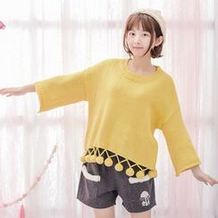 Moriville - Bobble Hem Loose Fit Sweater