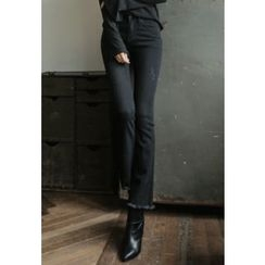 REDOPIN - Frey-Hem Boot-Cut Pants