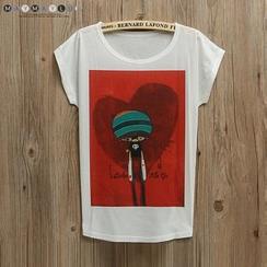 Maymaylu Dreams - Printed Cap-Sleeve T-shirt