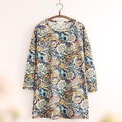11.STREET - 印花口袋长袖连衣裙