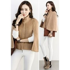 INSTYLEFIT - Wool Blend Cape Jacket