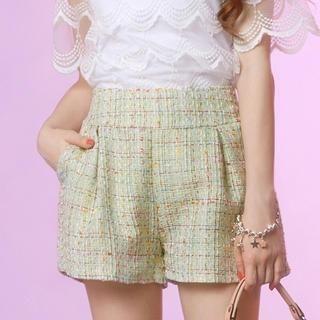 Tokyo Fashion - Pleated Tweed Shorts