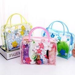 Fun House - Floral Print Transparent Travel Organizer Bag