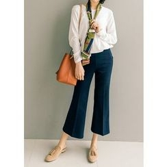 J-ANN - Boot-Cut Zip-Side Dress Pants