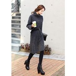 DEEPNY - Turtle-Neck Knit Pullover Dress