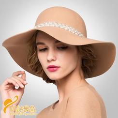 BADA - Faux-Pearl Felt Hat