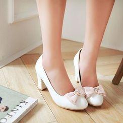 Pastel Pairs - 蝴蝶结饰高跟鞋