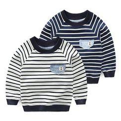 貝殼童裝 - 小童條紋衛衣