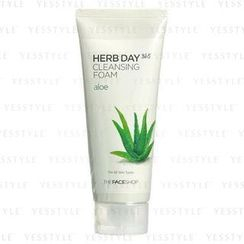 The Face Shop - Herb Day 365 Cleansing Foam (Aloe) (Hydrating)