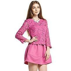O.SA - Crochet-Panel A-Line Dress