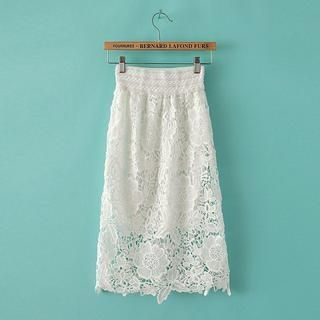 JVL - Crochet-Lace Midi Skirt