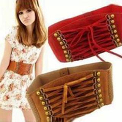 Charm n Style - Lace-Up Elastic Belt