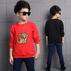 Pegasus - Kids Tiger Embroidered Pullover
