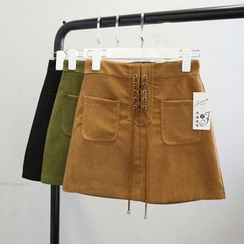Phantasy - Lace-Up Mini Skirt