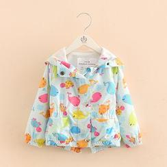 Seashells Kids - Kids Print Hooded Jacket
