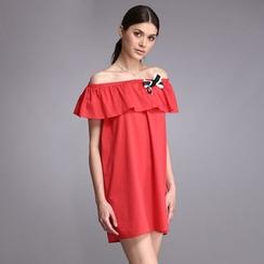 Liya Closet - 露肩直身連衣裙