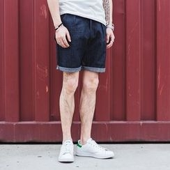 YIDESIMPLE - Patchwork Denim Shorts