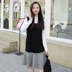 Envy Look - Ruffle-Hem A-Line Jumper Dress
