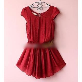Munai - Cap-Sleeve Buttoned Dress