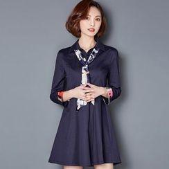 NINETTE - Cuffed Shirtdress