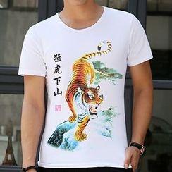 T Empire - 印花短袖T恤