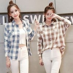 Sienne - Gingham Batwing Blouse