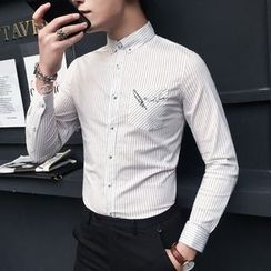 Orizzon - Long-Sleeve Pinstripe Shirt