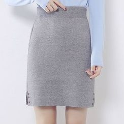 Ashlee - Rhinestone Knit Skirt