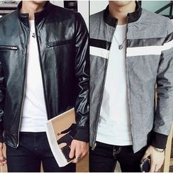 Consto - Faux Leather Jacket