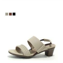 MODELSIS - Genuine Leather Sling-Back Sandals
