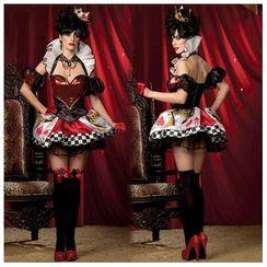Cosgirl - Red Heart Poker Queen Party Costume