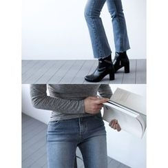 STYLEBYYAM - Washed Boot-Cut Jeans