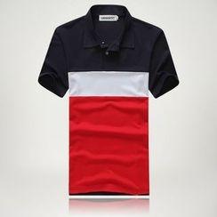 uninukoo - Color Block Polo Shirt