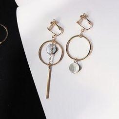 EPOQ - Non Matching Hoop Drop Earrings/ Clip-On Earrings