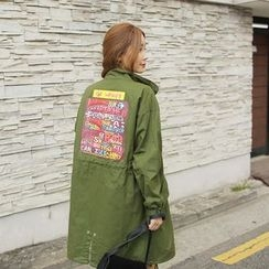 Cherryville - Appliqué Zip-Up Jacket