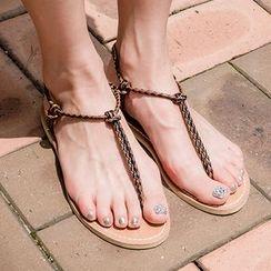 chuu - Toe-Loop Braided Sandals