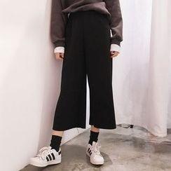 YUKISHU - Cropped Wide Leg Pants