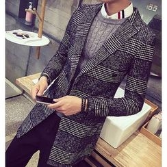 Fisen - Houndstooth Double-Breasted Coat