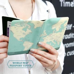 iswas - 'World Map' Series Passport Holder