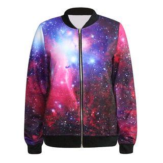 Omifa - Galaxy-Print Zip Jacket