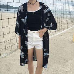 Dute - Print Chiffon Kimono Jacket