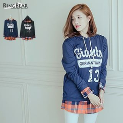 RingBear - Hooded Mock Two Piece Lettering Pullover