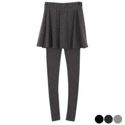 Ho Shop Inset A-Line Skirt Leggings